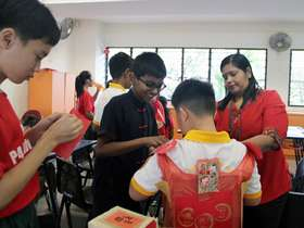 Chinese New Year Celebrations – Students create the costume to depict the year of the dog in the lunar calendar.